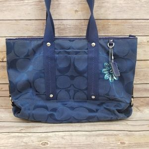 Coach f18844 Kyra Daisy Signature Purse Bag Tote